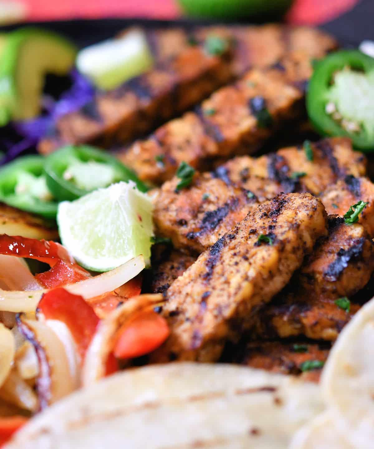 24Btie: Tempeh Fajitas No Meat Tacos Recipe by Christian Guzman