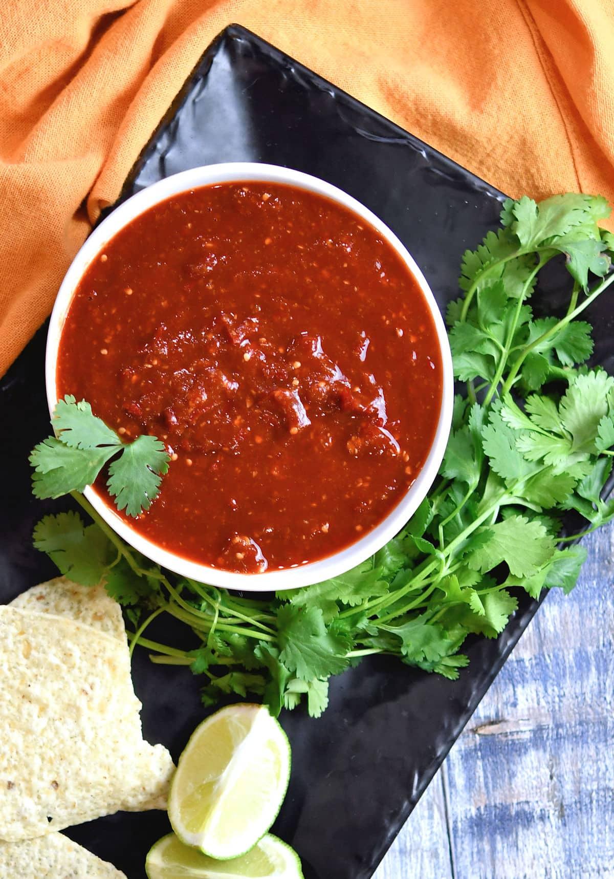 24Bite: Tomatillo Red Chili Sauce Recipe by Christian Guzman