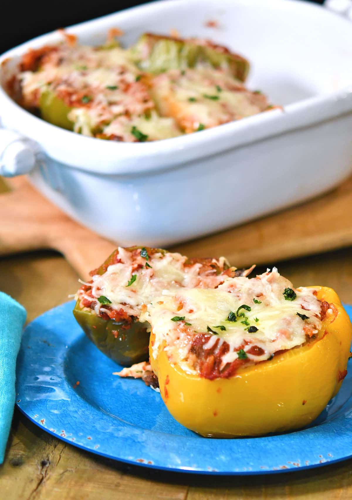 24Bite: Dirty Rice Stuffed Bell Peppers recipe by Christian Guzman