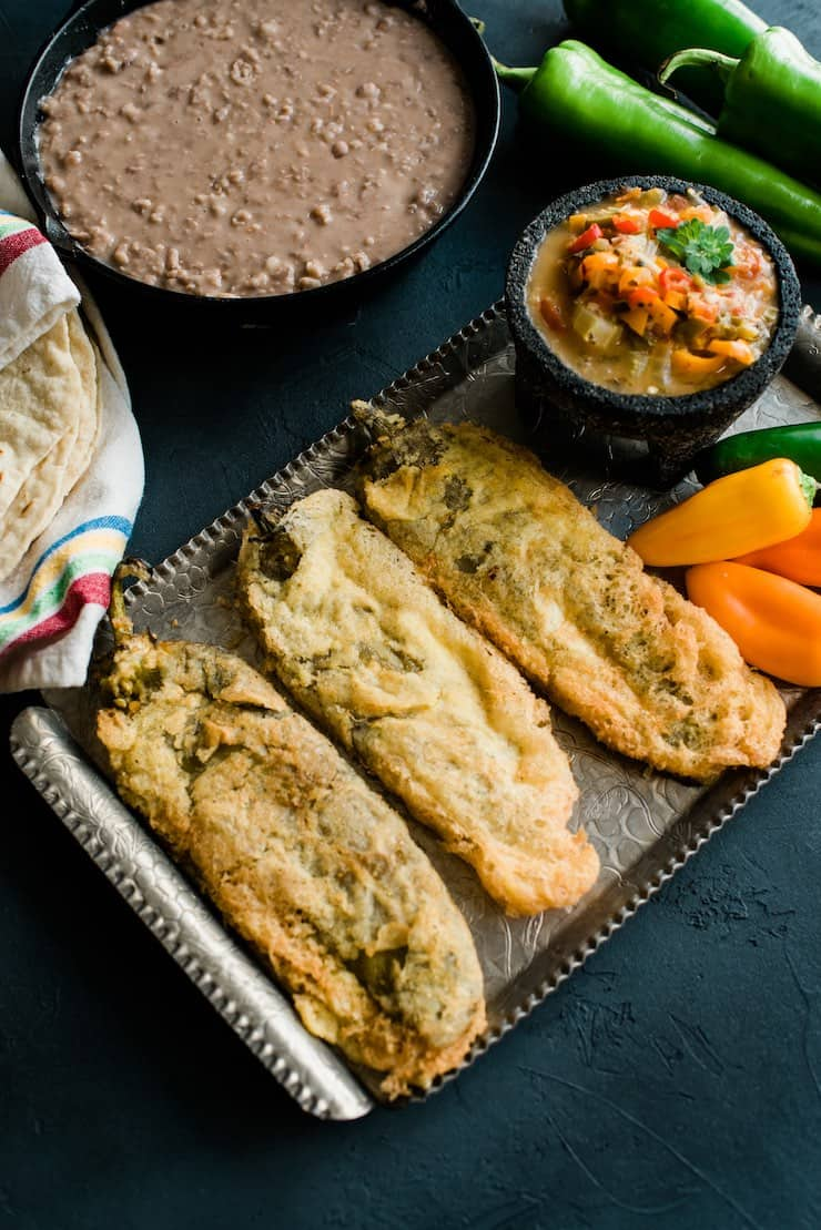 Chiles Rellenos from Muy Bueno Cookbook