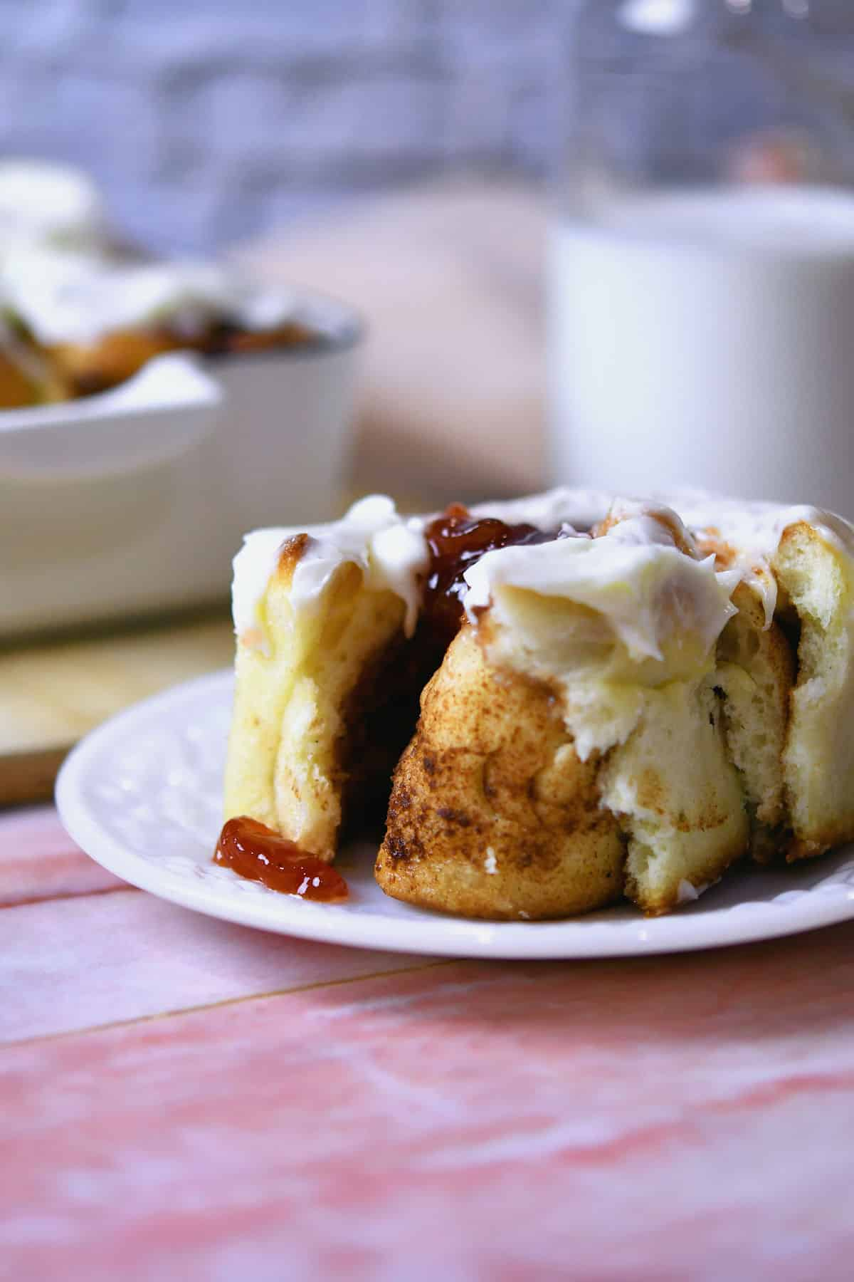 24Bite: Strawberry Cream Cheese Cinnamon Rolls Recipe by Christian Guzman